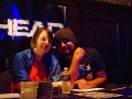 Merch table; Hayley and Fredo - John Chan