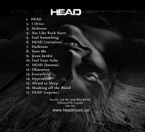 Afraid to Sleep CD back cover