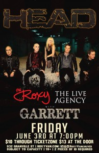 roxy show june 3 with garrett